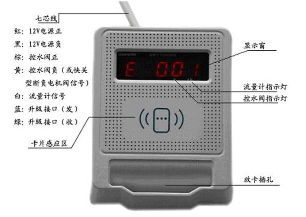 智能卡水控制器接线图